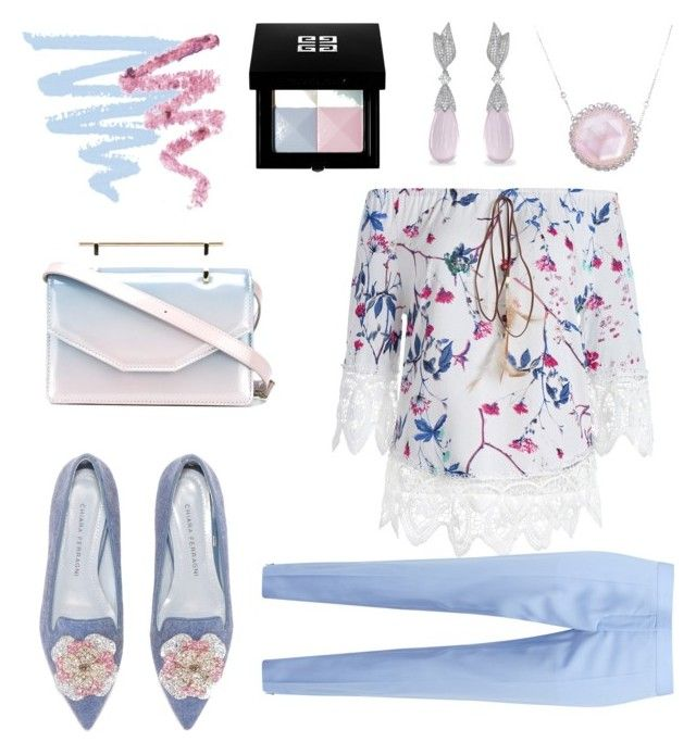 """""""pretty pastels"""" by saturn43210 ❤ liked on Polyvore featuring STELLA McCARTNEY, M2Malletier, Givenchy, Laura Munder and Cynthia Rowley"""