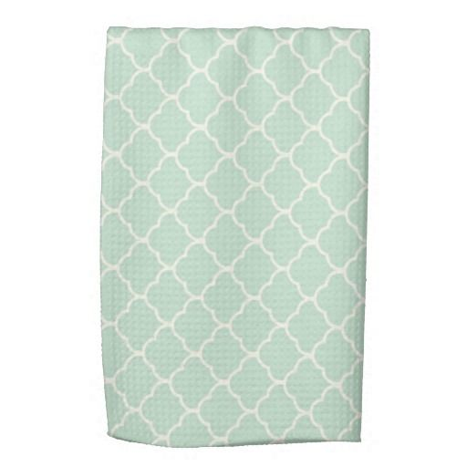 Seafoam Green Moroccan Quatrefoil Pattern Towel Zazzle Com