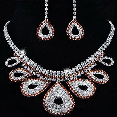 свадебные элегантный горный хрусталь форма кристалла падение серьги& ожерелье комплект ювелирных изделий – RUB p. 1 053,27