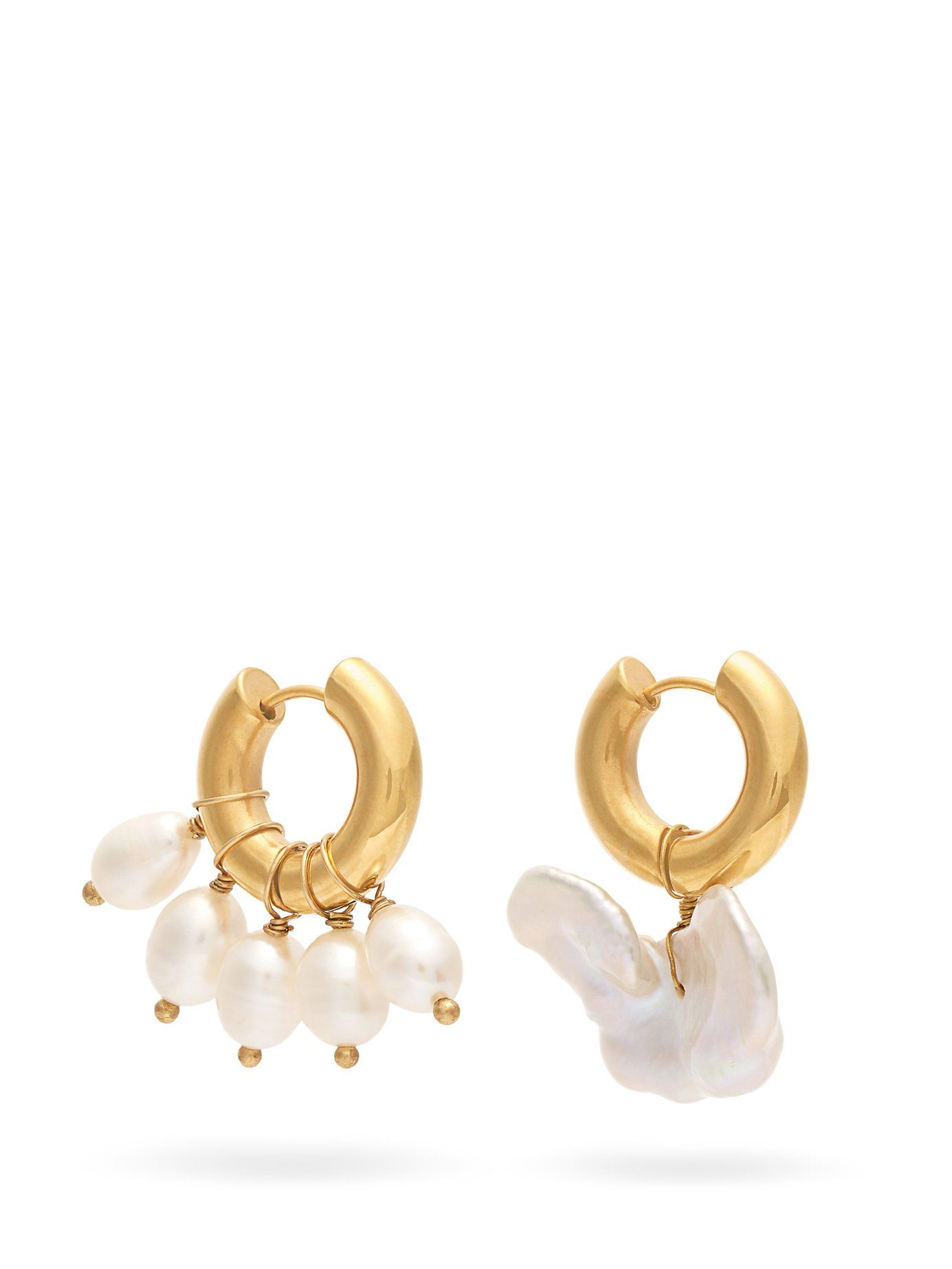d87d30c83 Mismatched baroque-pearl hoop earrings   Timeless Pearly    MATCHESFASHION.COM US