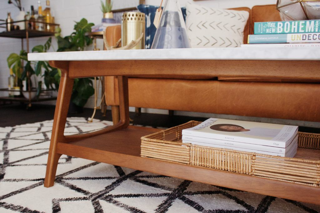 Living room makeover with west elm living room coffee
