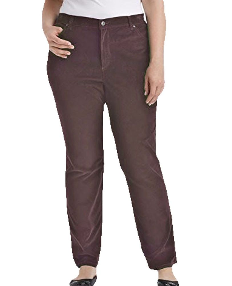 b39fe1c21d5 Gloria Vanderbilt Amanda Straight Corduroy Pants Classic Fit Jeans Womens  Color  GloriaVanderbilt  Corduroys  brown  cotton  straight  pants  classic   soft ...