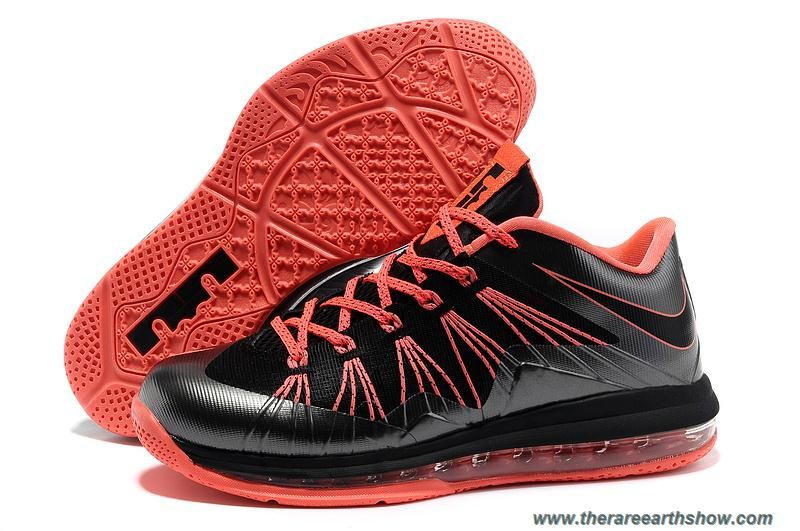 sneakers for cheap 4d502 33488 Black Total Crimson Nike Air Max Lebron 10 Low 579765 001 Outlet