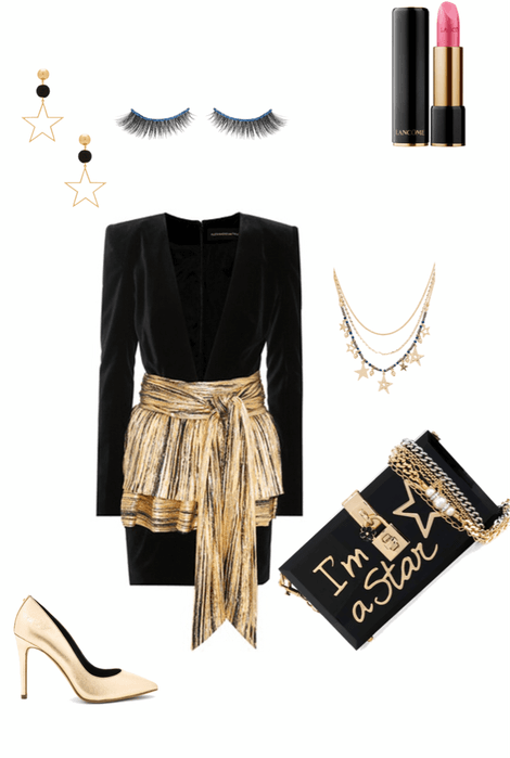 Nye Party Black And Gold Nye Nyeoutfit Nyestyle Newyearsparty