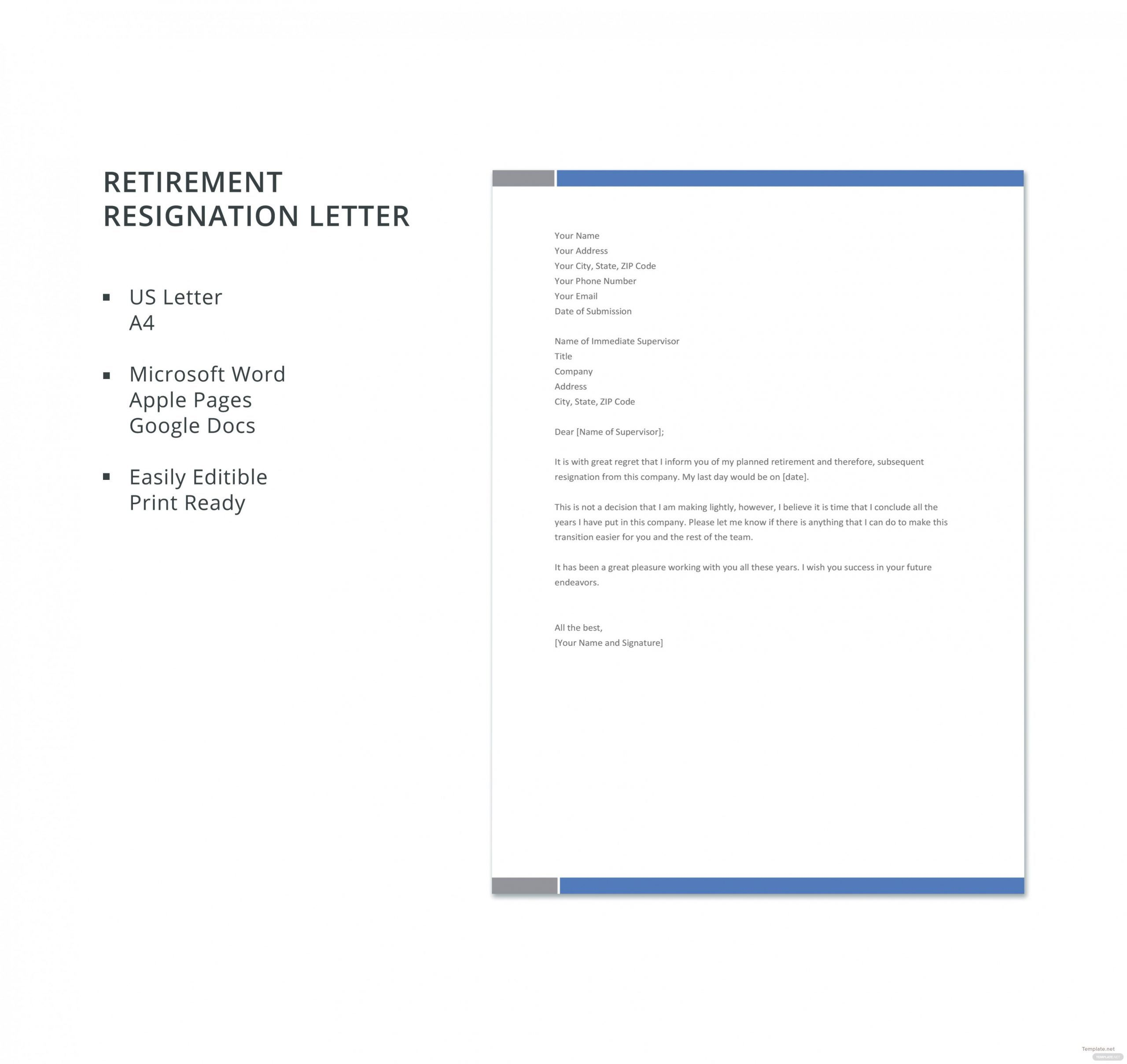 resignation retirement letter template microsoft word what career objective sample for customer service law student cv junior software developer