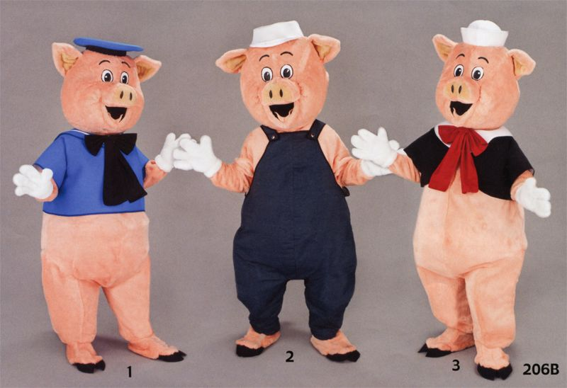 Déguisement mascotte trois petits cochons   ID Contes et Légendes bdee8ef15080