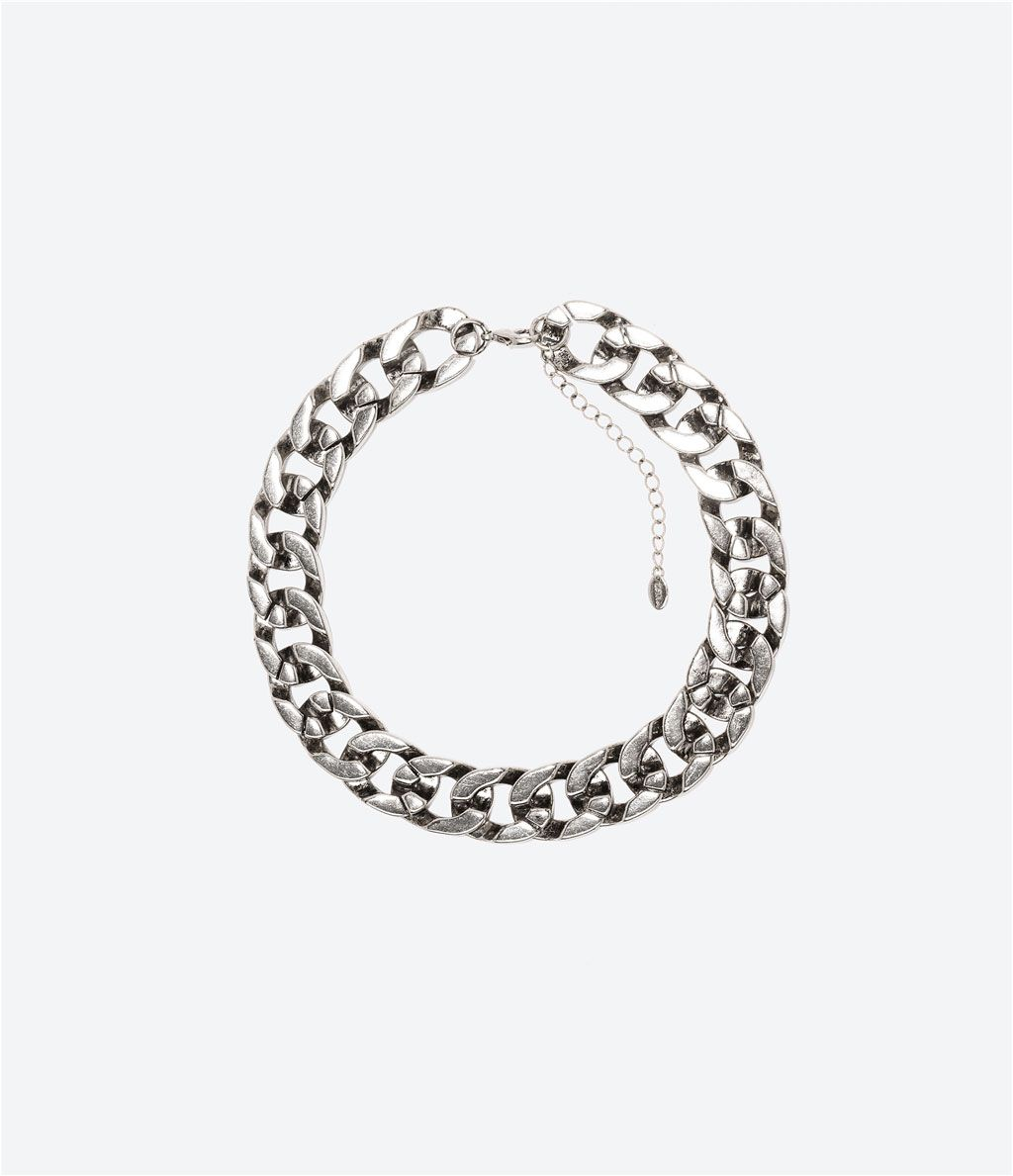 ZARA - WOMAN - SHINY CHAIN LINK NECKLACE  | 26