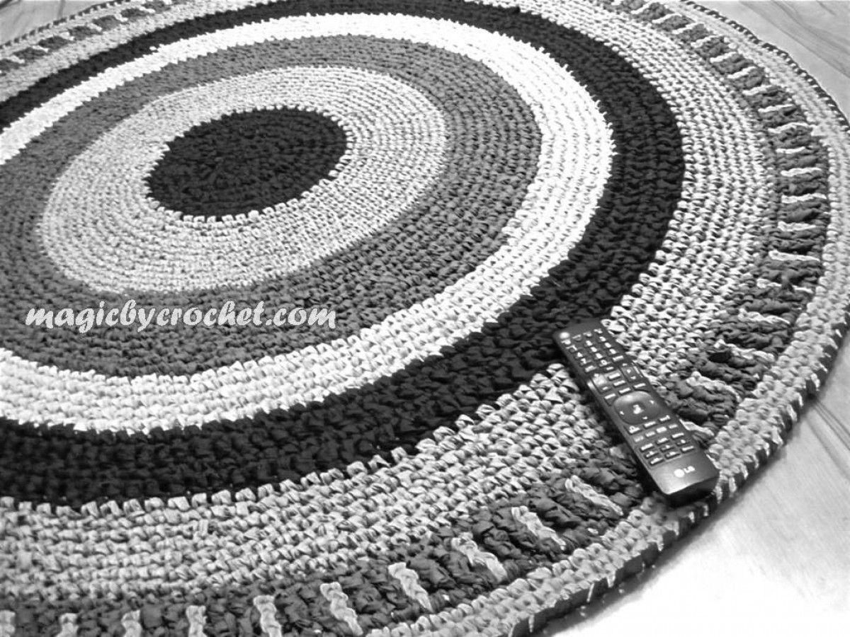 Round Rug Rag Rug Nursery Rug Handmade Rug Home Decor 5 Ft