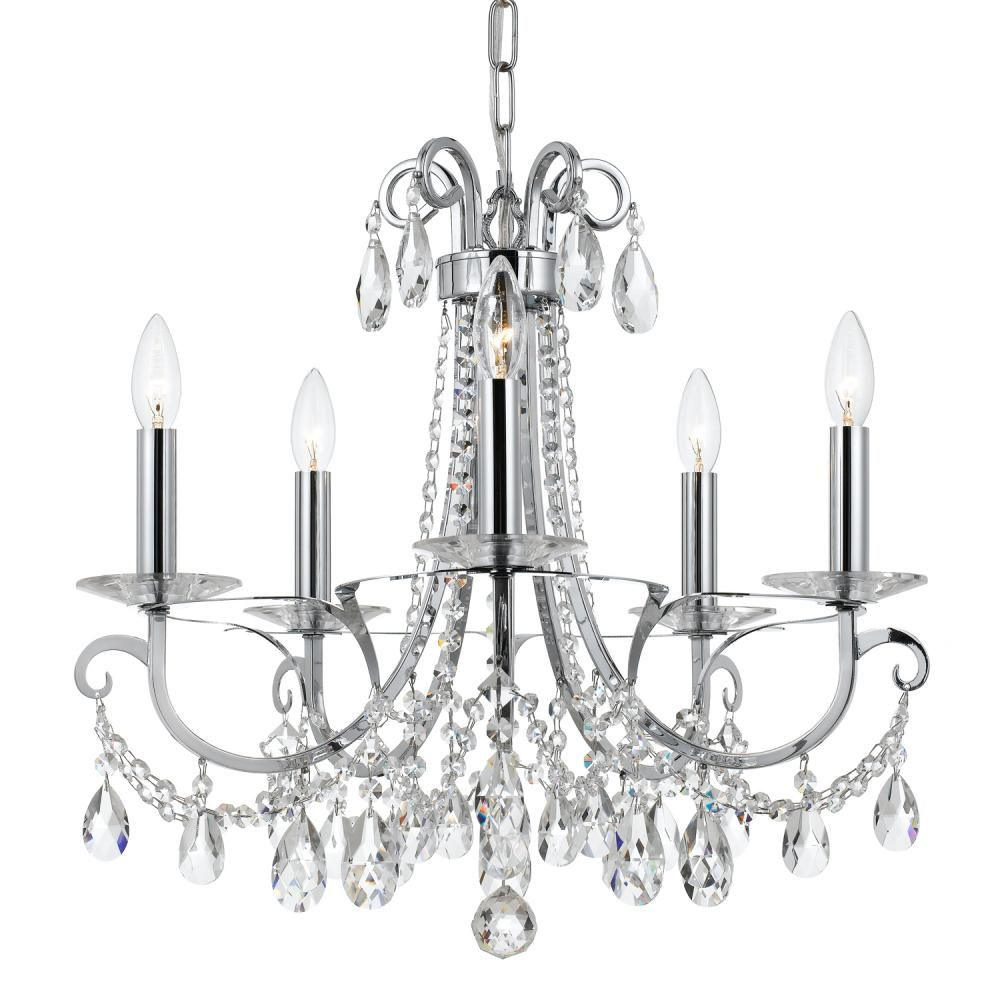 Crystorama Othello 5 Light Clear Crystal Polished Chrome Chandelier : 6825-CH-CL-MWP | Burr Ridge Lighting