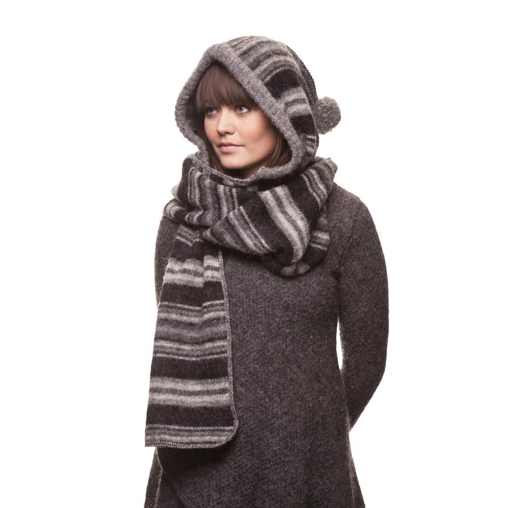 Iceland Winter Fashion: Icelandic Wool Scarf With Hood (With Images
