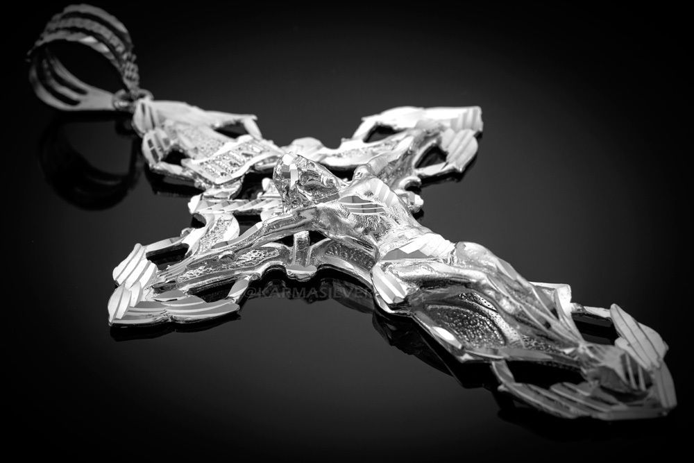 Solid Sterling Silver Xl Extra Large Mens Crucifix Cross Pendant Crucifix Cross Cross Pendant Crucifix