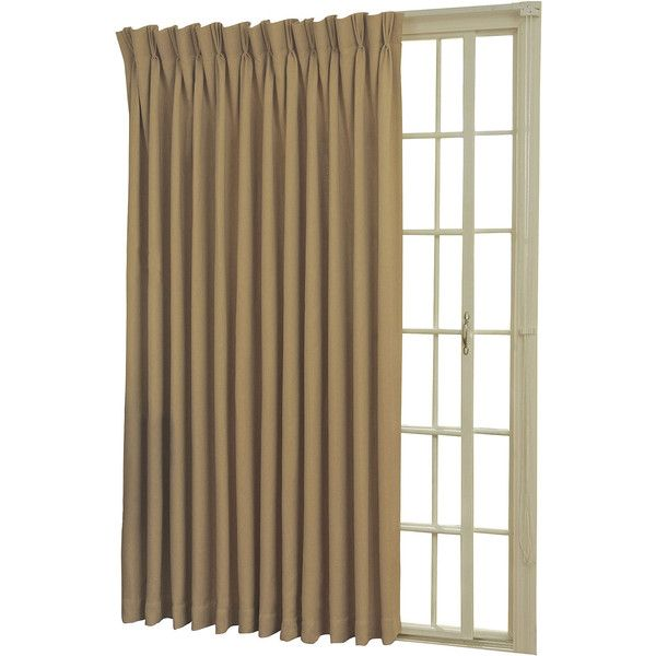 Eclipse Back Tabpinch Pleat Thermal Blackout Patio Door Curtain