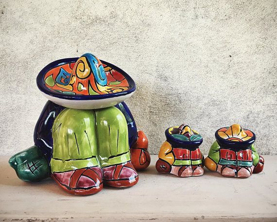 Superior Vintage Mexican Talavera Statues Of Sleeping Hombre, Mexican Folk Art,  Rustic Home Decor,