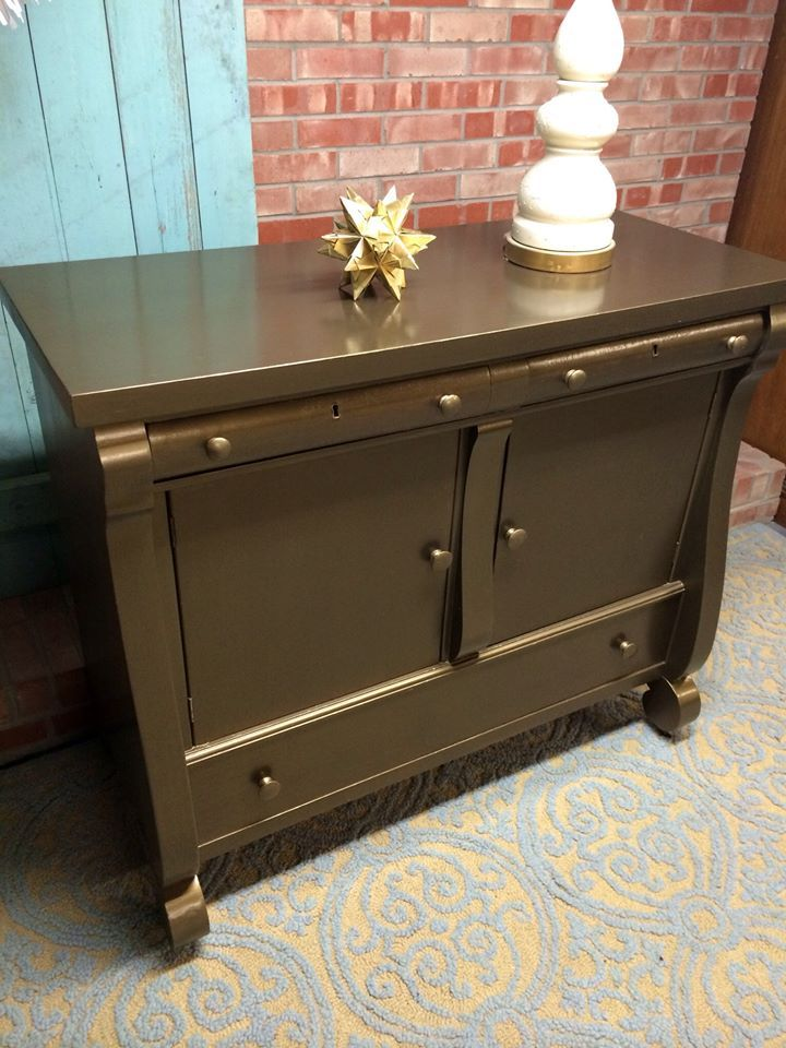 A Small Buffet Finished With Modern Masters Blackened Bronze Metallic Paint By Simple Redesign