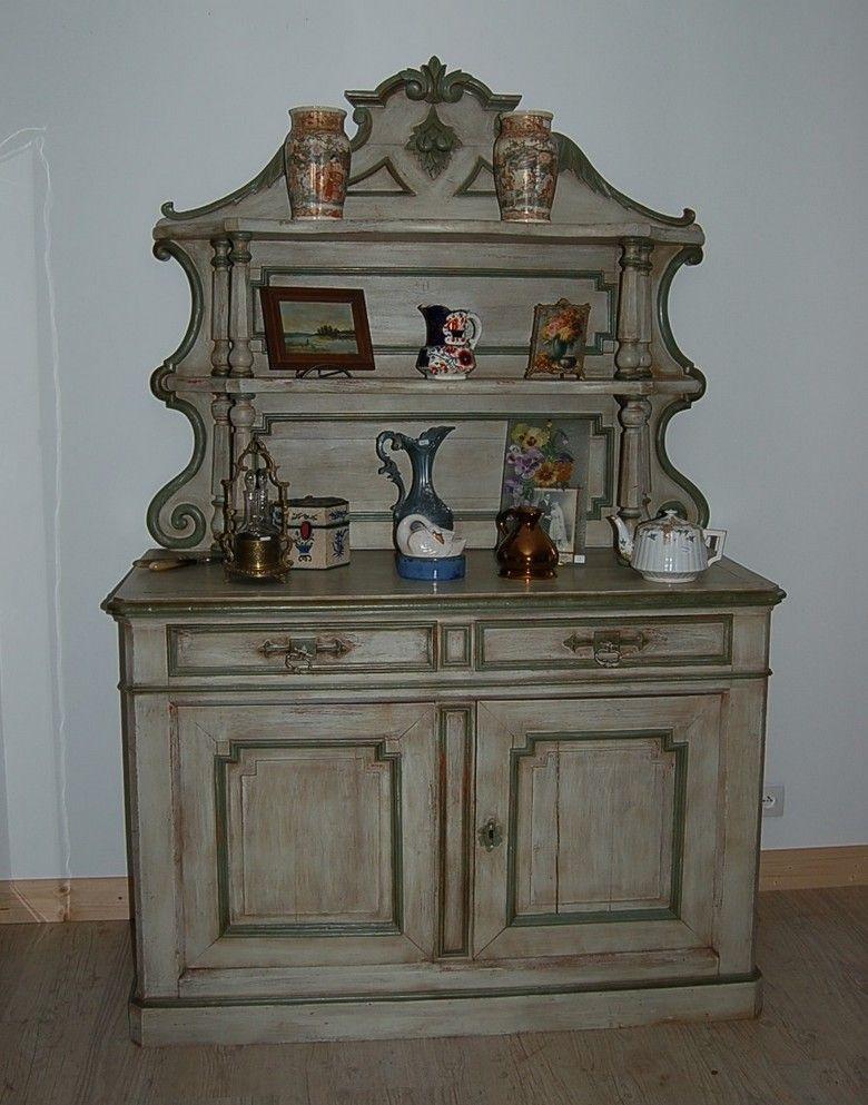 buffet peint de la fin du 19eme siècle Saint Hubert Inspiration - vernir un meuble peint