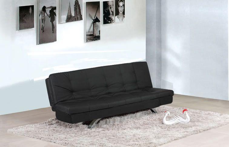 Divano Letto Bianco Ecopelle : Divano letto eleonora bianco nero ecopelle posti divano
