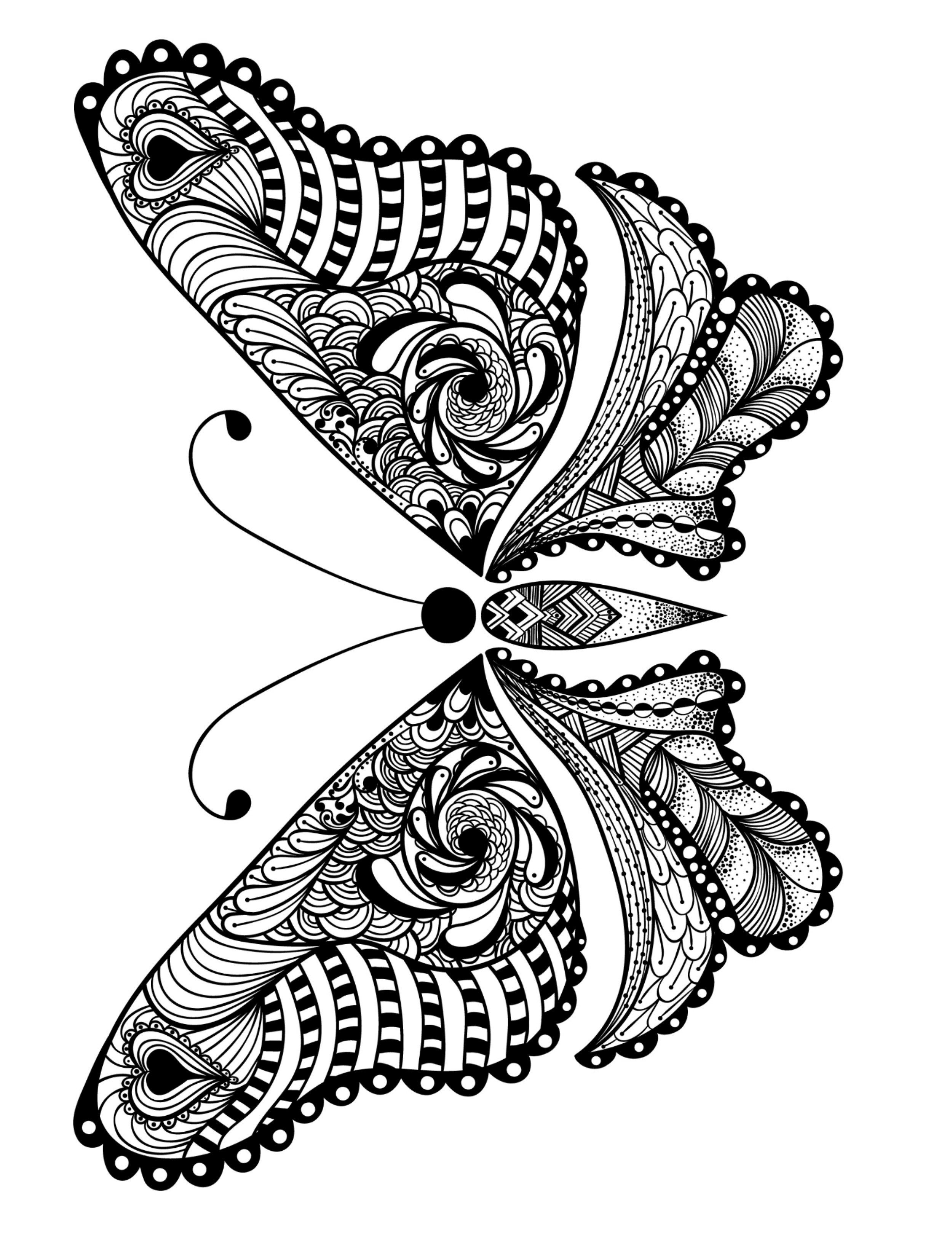 23 free printable insect & animal adult coloring pages | zentangles