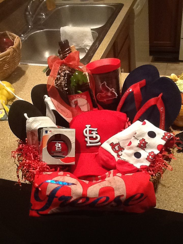 Really great Cardinal Baseball Basket - This would be a ...