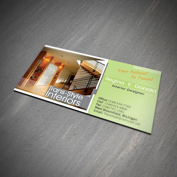 Interior design business card business cards business card interior design business card reheart Gallery