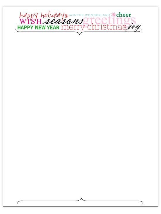 Free Christmas Letter Templates Christmas letters, Holiday words - christmas letterhead templates word