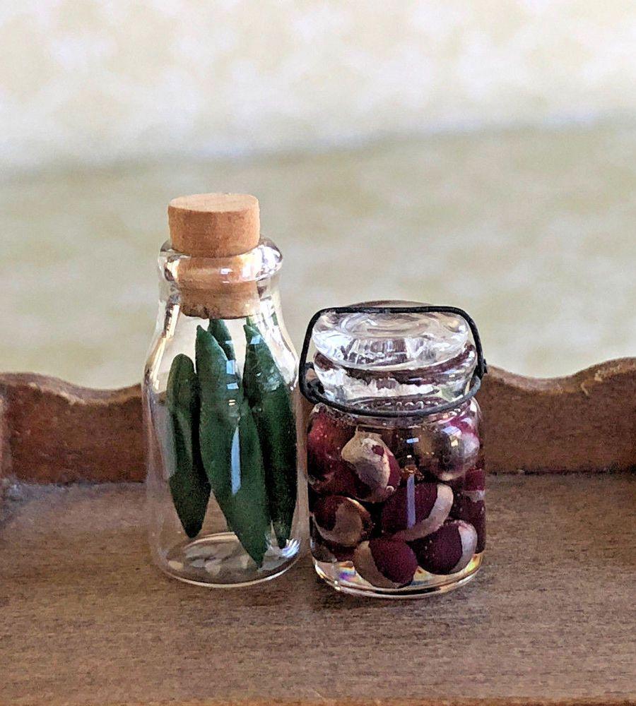 VTG Dollhouse Miniature 112 Artisan Canned Vegetables