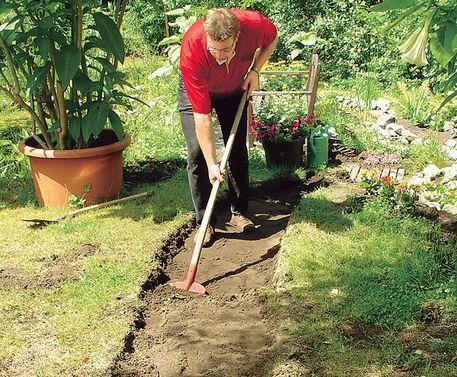 gartenweg anlegen unterbau – msglocal, Gartenarbeit ideen