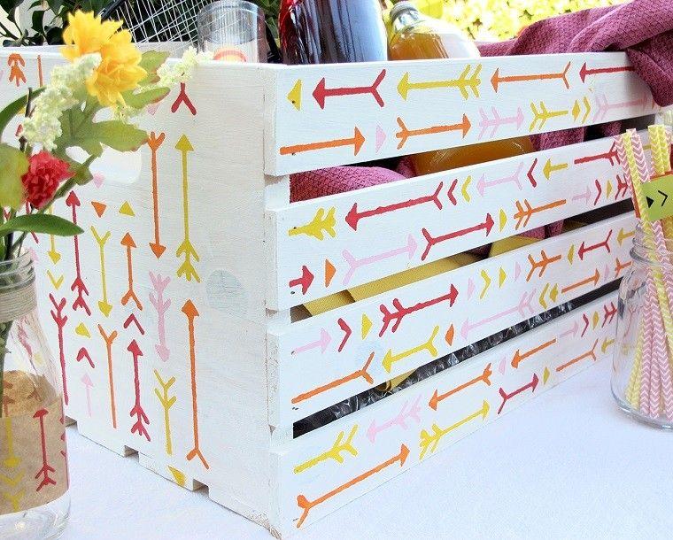 original decoracion cajas frutas Bricomana Pinterest Cajas de