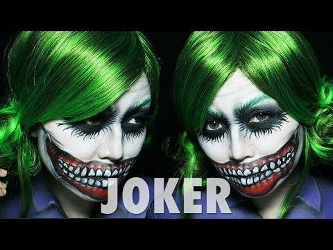 Joker Makeup Tutorial Female Version Classic Joker Pinterest - Joker-makeup-tutorial