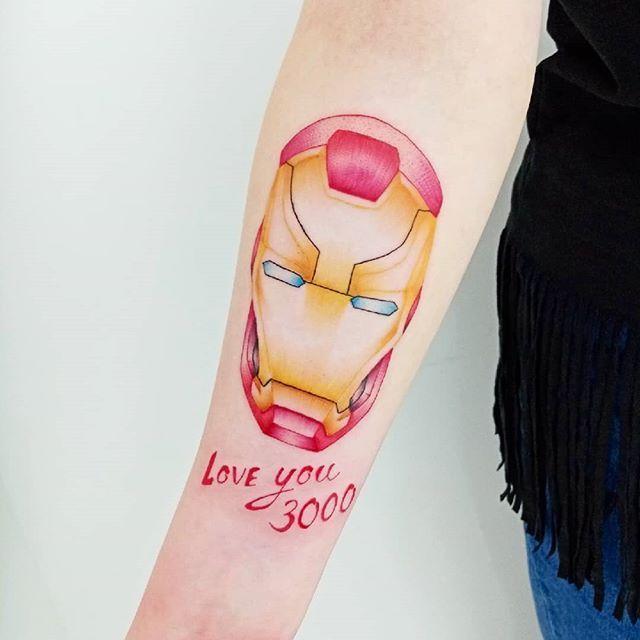 Love you 3000 #Marvel #MCU #AvengersEndgame #IronMan #LoveYou3000 #Tattoo #ColouredTattoo #Art Love you 3000 #Marvel #MCU #AvengersEndgame #IronMan #LoveYou3000 #Tattoo #ColouredTattoo #Art #Artist #CaptainBluebeard #tattoocaptain