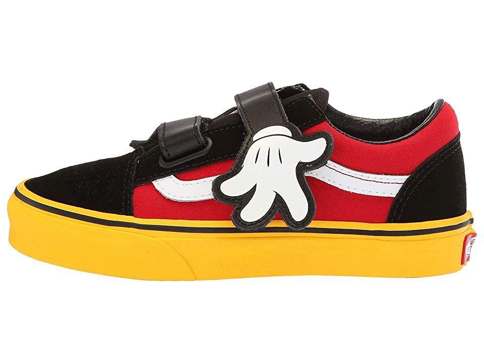 31f76c5ddbac Vans Kids Mickey s 90th Old Skool V (Little Kid Big Kid) Kids Shoes  (Disney) Mickey Hugs Yellow