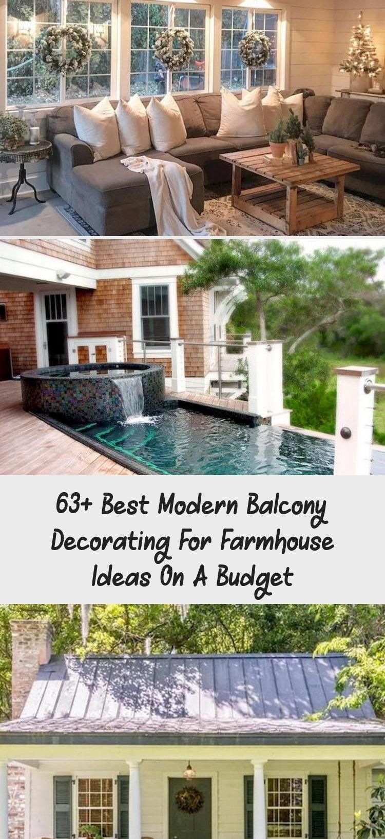 63+ Best Modern Balcony Decorating for Farmhouse Ideas on A Budget #farmhousesty… Balcony