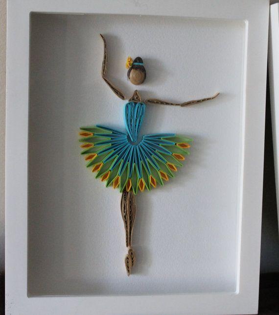 Quilled Ballerina Framed Wall Art By Especially4uhandmade