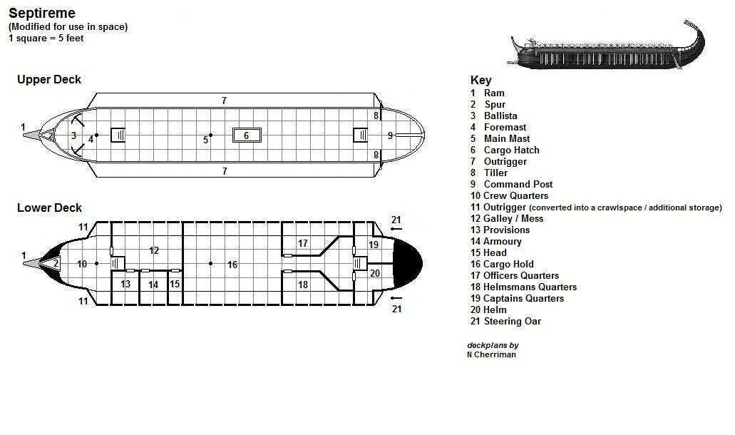 Septireme Deck Plans How To Plan Map