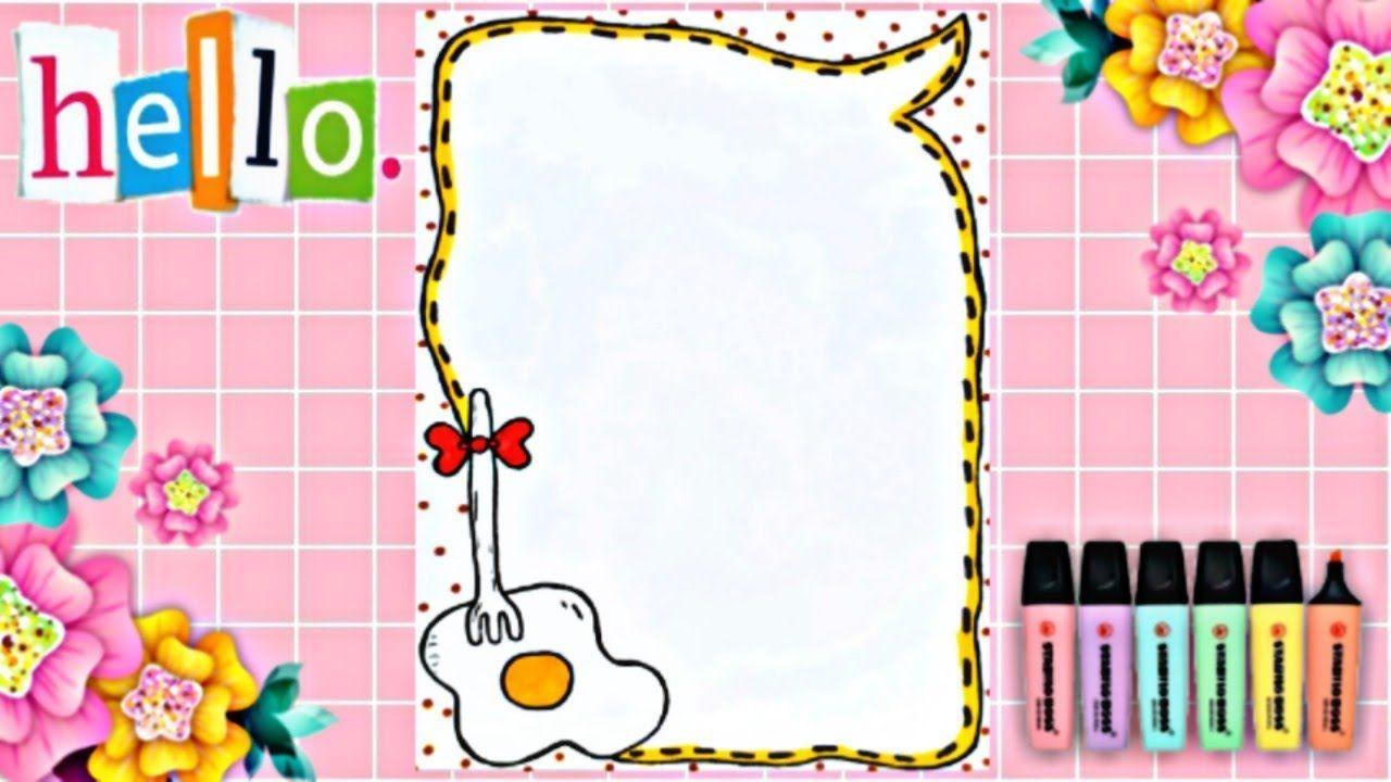 Drawing To Decorate Notebbook Cute Eggs تزيين دفاتر مدرسة من الداخل Notebook