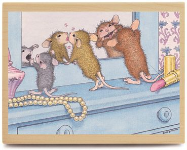 Lookin' Good - House Mouse Rubber Stamps