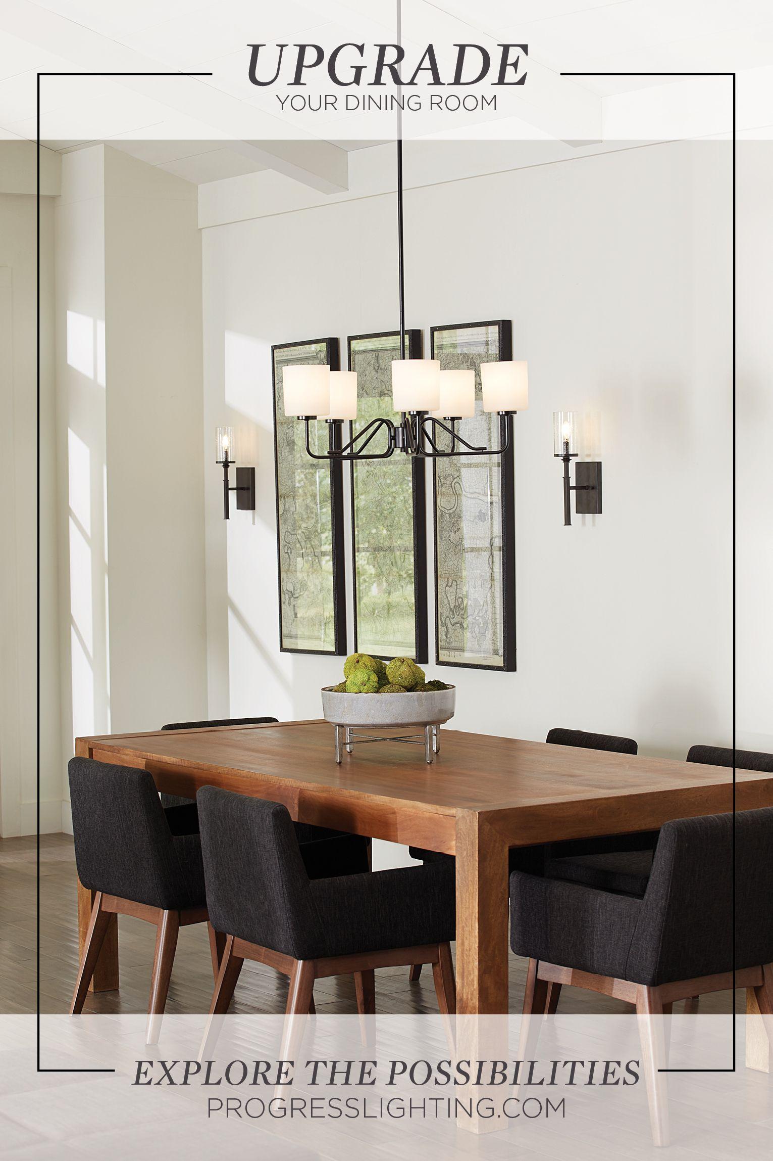 Upgrade Your Dining Room With New Lighting Progress Lighting Modern Dining Room Contemporary Chandelier Dining room progress inspiration