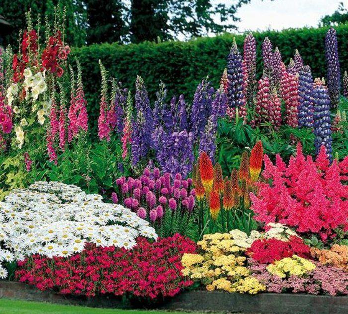 1001 conseils et mod les pour cr er une parterre de fleurs jardin pinterest id e de g nie. Black Bedroom Furniture Sets. Home Design Ideas