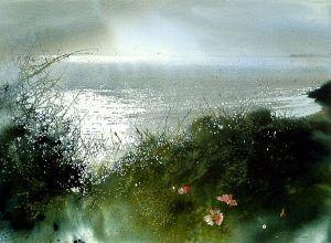 Landscape watercolor painting works of American Nita Engel (2)