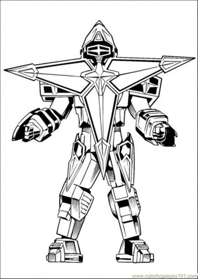 Robot Enemy Coloring Page Cartoons Power Rangers