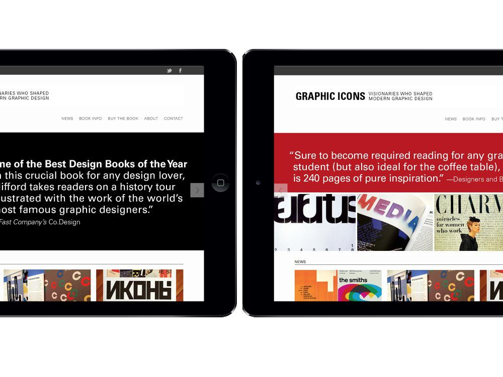 Responsive Web Design For The Site Promoting The Book Graphic Icons Best Design Books Web Design Book Design