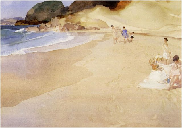 Art Mood William Russell Flint William Russell Beach