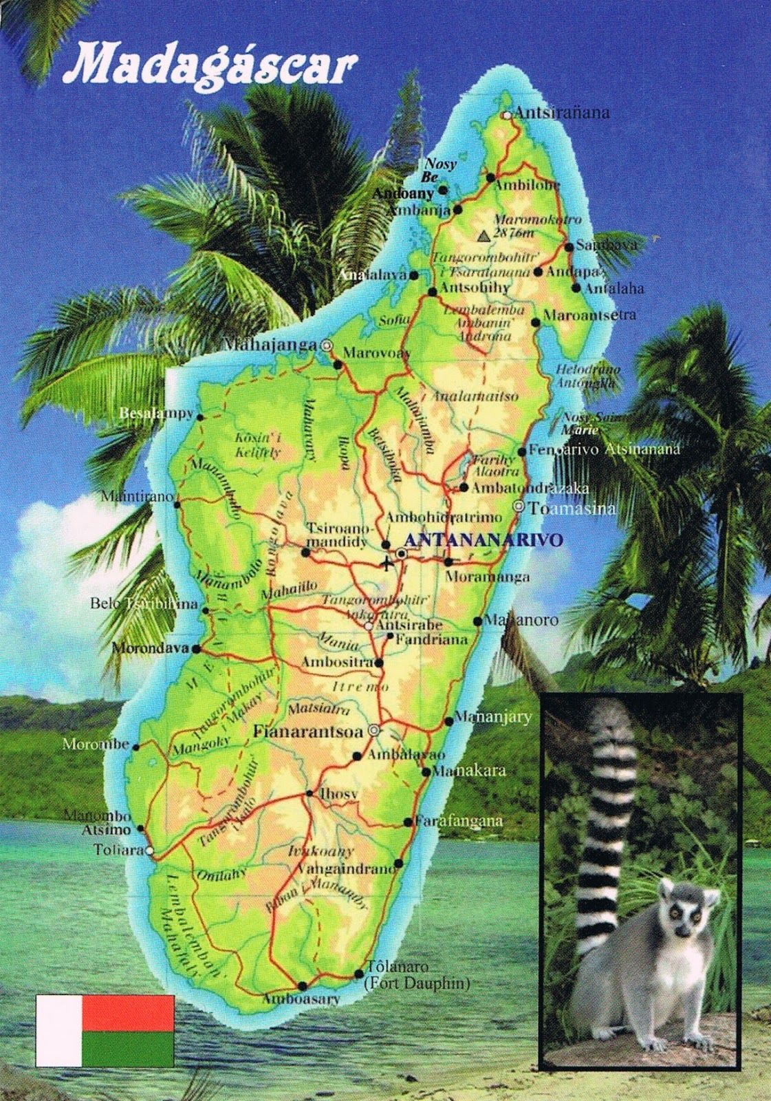 Where Is Madagascar On The Map Map Of Madagascar Madagascar - Where is madagascar