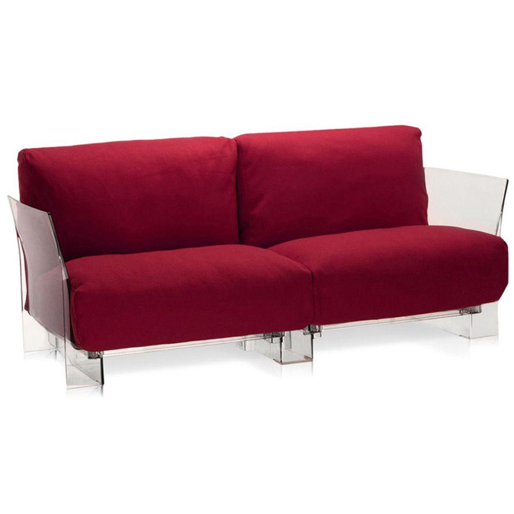 Pop Two Seater Kvadrat Sofa by Kartell  - Opad.com