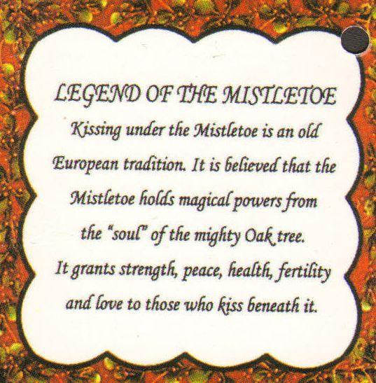 Legend Of The Mistletoe: Kissing Under The Mistletoe Is An