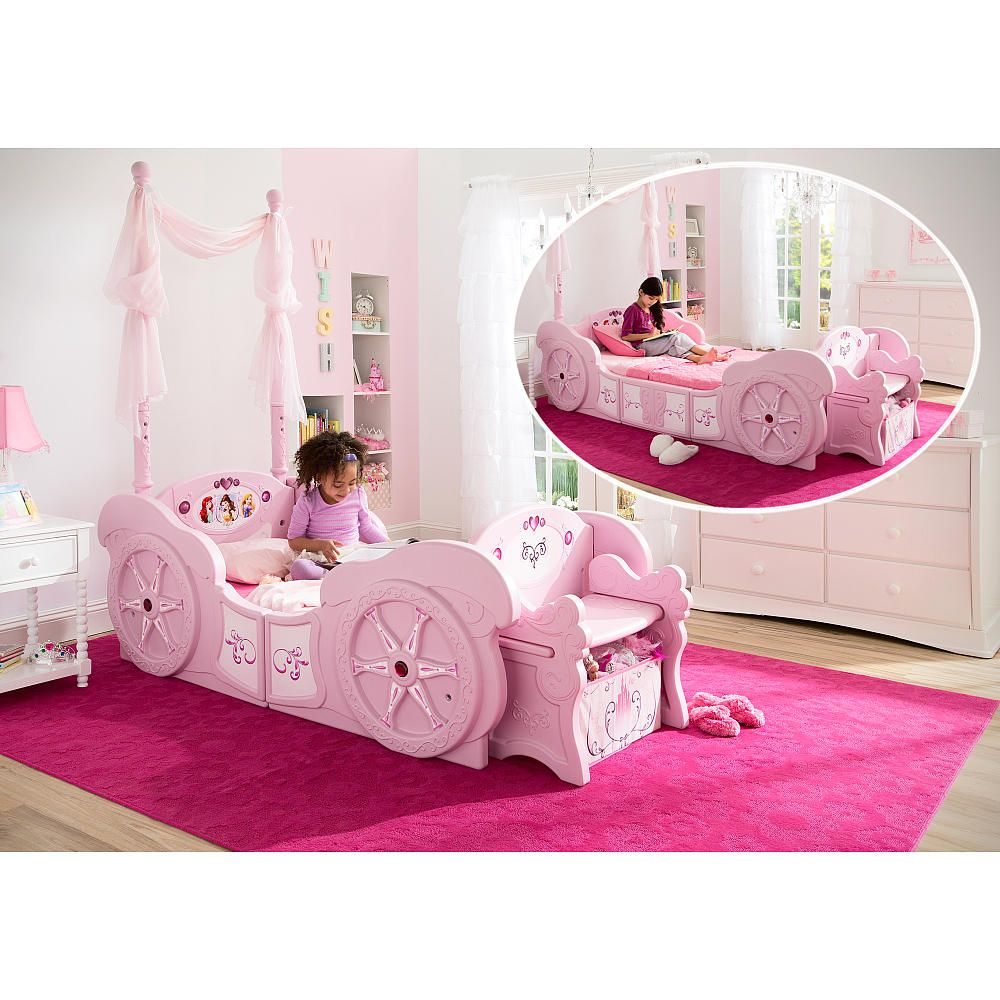 Delta Children Disney Princess Carriage Toddler To Twin Bed Convertible Toddler Bed Pink Bedding Toddler Bed Convertible toddler to twin bed
