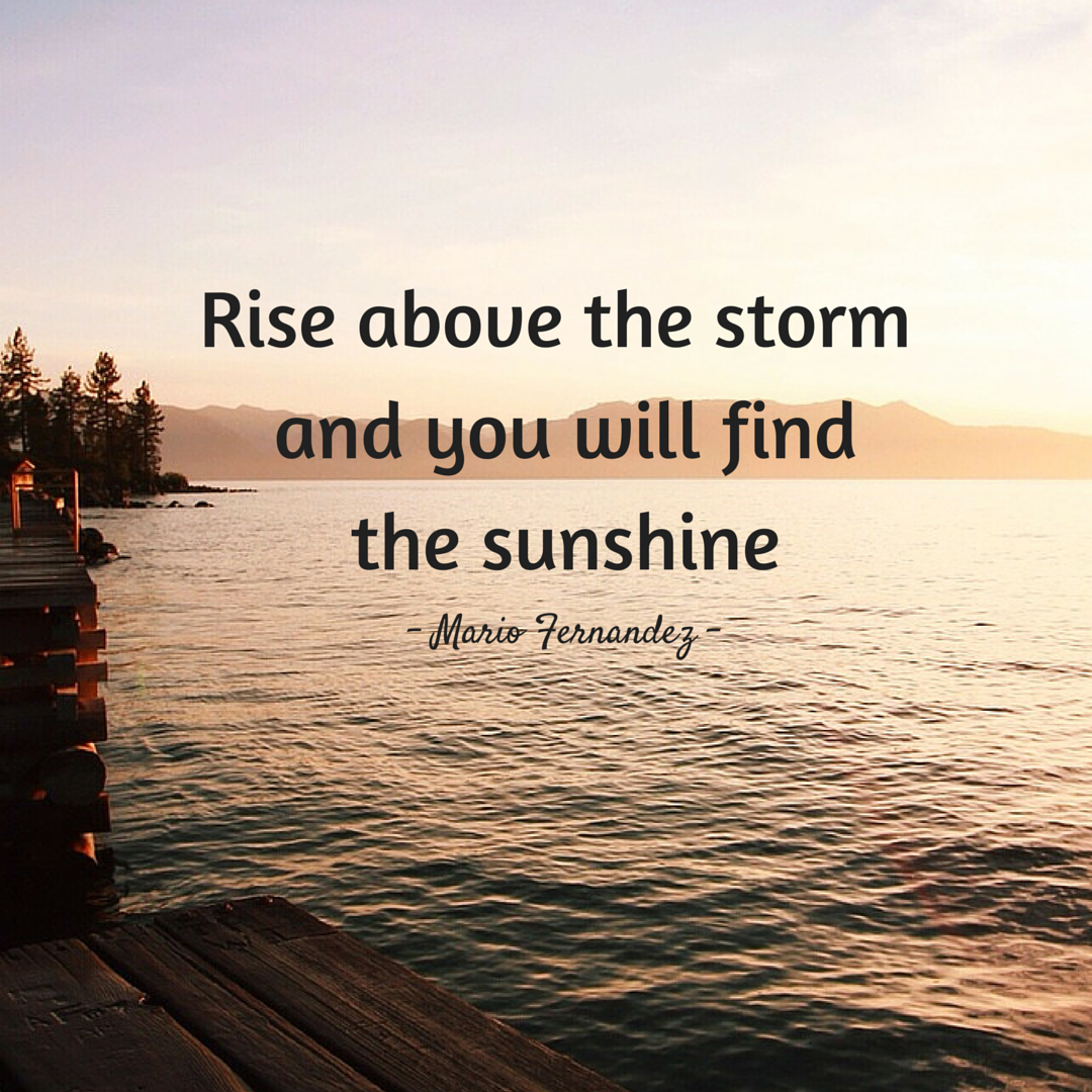 Rise Above The Storm And You Will Find The Sunshine Mario