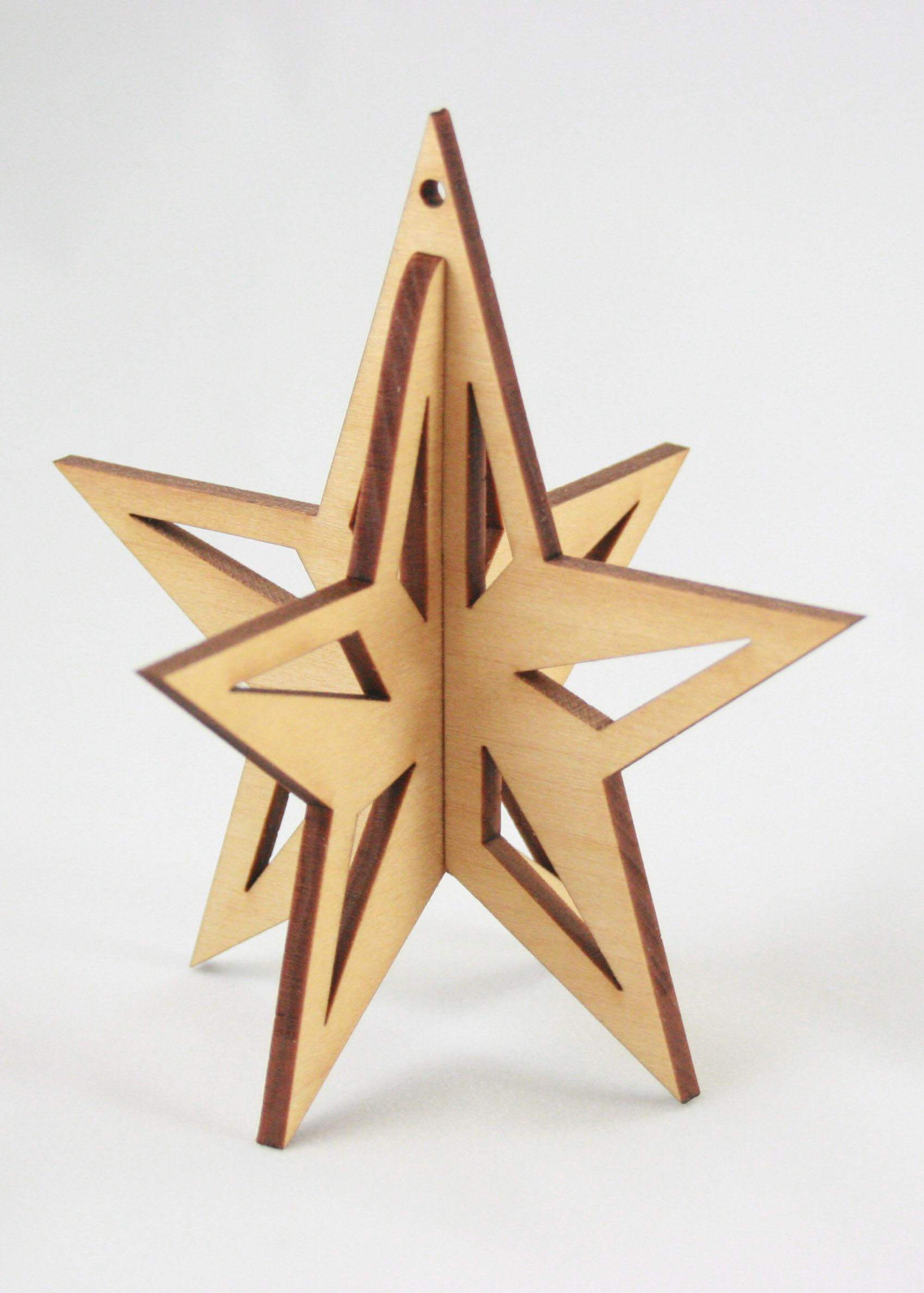3d Star Ornament Wooden Christmas Trees Wooden Stars Wooden