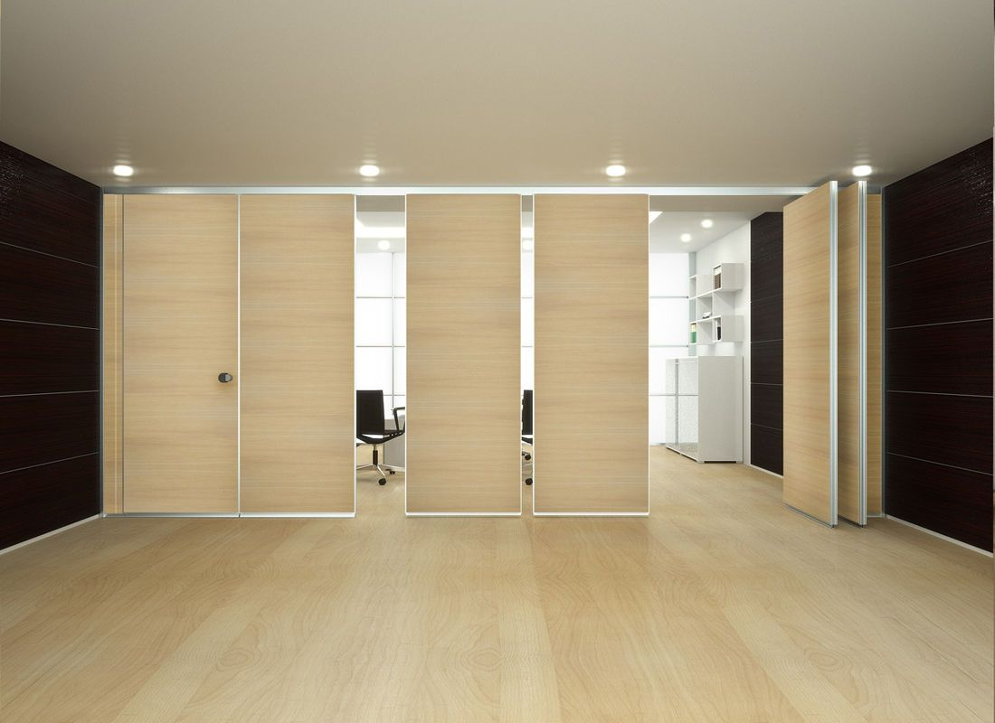 mobile acoustic wooden partition ROLLING WALL - BLIND MONOCARRELLO ...
