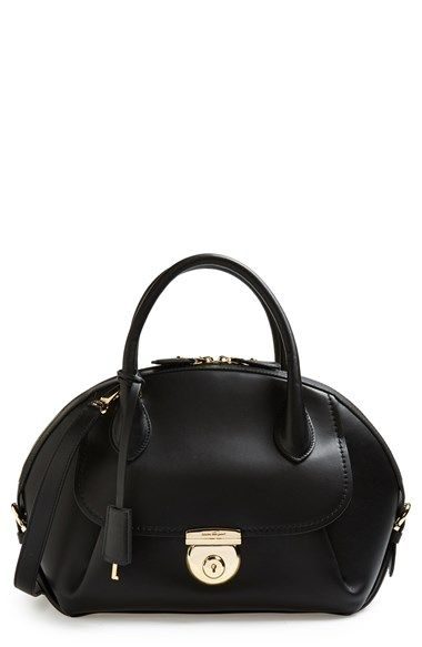 877542335322 Salvatore Ferragamo  Vivette  Leather Dome Satchel available at  Nordstrom