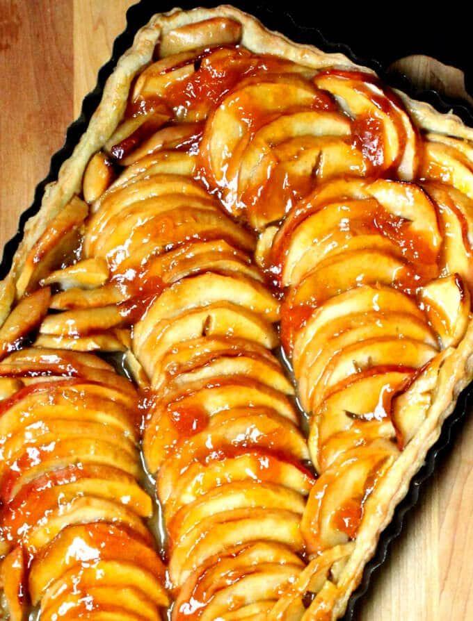 A très élégant vegan French Apple Tart that's easy as pie   Holy Cow! Vegan Recipes Easy, tasty vegan recipes